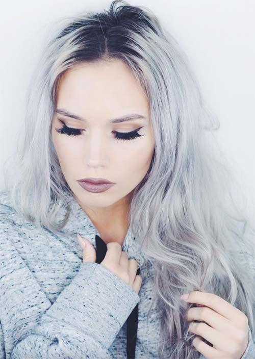 Silbernes Haar Trend 51 Cool Grey Hair Farben Und Tipps Fur Going Grey Lange Graue Haare Gefarbte Graue Haare Graue Haarfarben