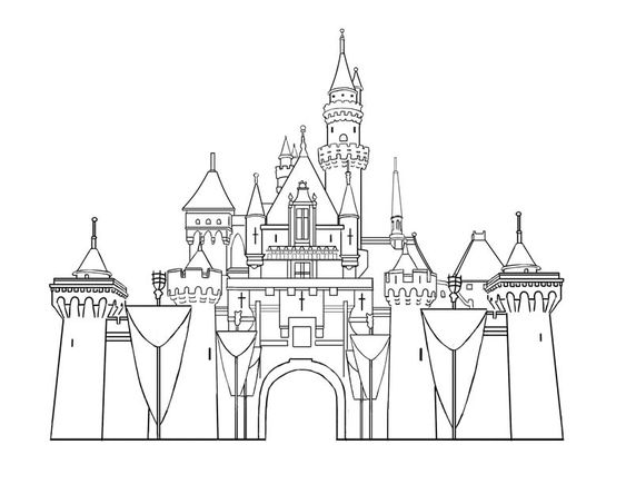Castles disney castles and coloring pages on pinterest for Cinderella castle coloring pages print