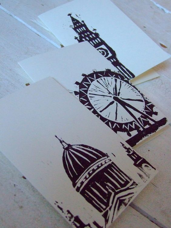 linoprint card set - I want this! I wonder if they will ship from UK?: