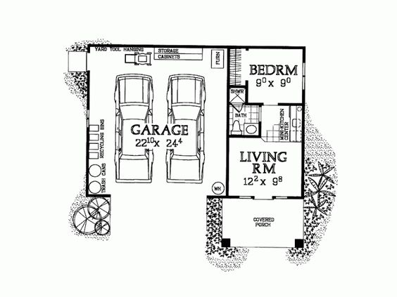 Pinterest the world s catalog of ideas for Garage apartment plans 1 bedroom