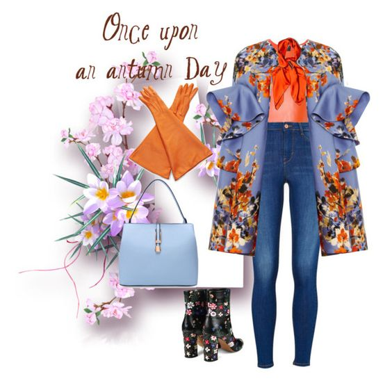 """""""Fall Florals"""" by themodernduchess ❤ liked on Polyvore featuring MSGM, Delpozo, Valentino, Rochas and Hermès"""