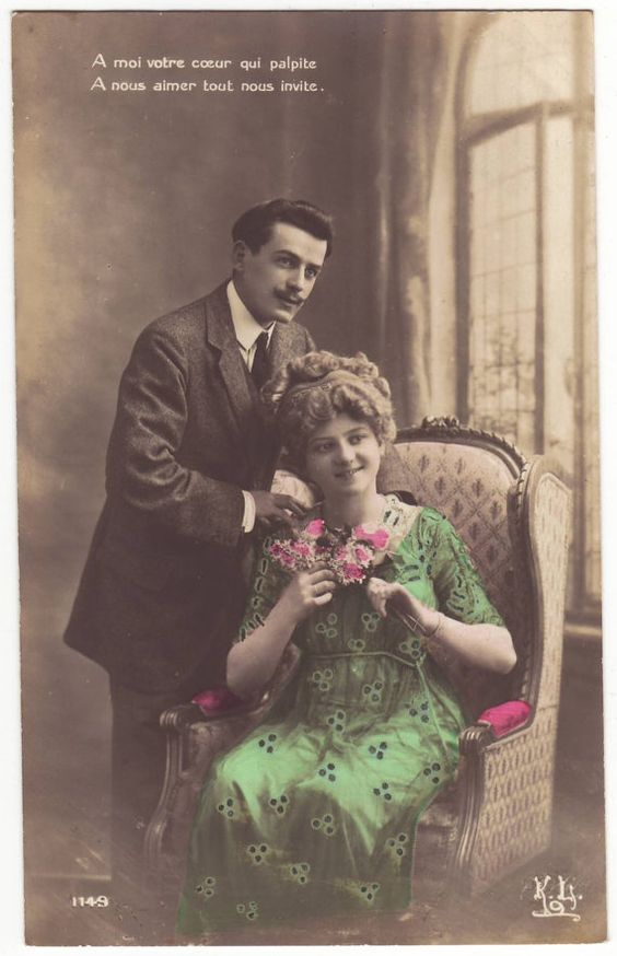 French postcard beautiful edwardian couple in a couch unused french postcard beautiful edwardian couple in a couch unused tinted card antique romantic art nouveau postcard 1910s pinterest beautiful sciox Gallery