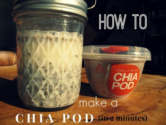 Chia seed pudding single serving