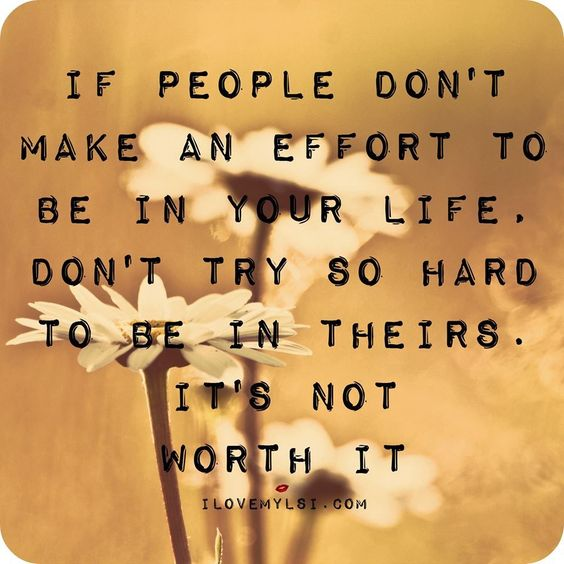 If people dont make an effort