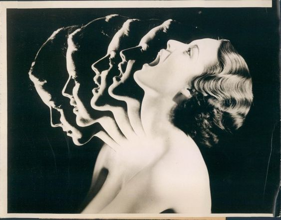 Chew Your Way to Beauty (Face Neck Muscle Exercise), ACME News Press Wire Photo, 1934