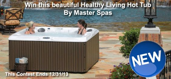 Enter to Win a Free fabulous $9,000 Healthy Living Hot Tub By Master Spas at PoolAndSpa.com. No Purchase Necessary.  One Winner will be selected  12/31/13. Restrictions: Over 18 - Contiguous USA States. One entry per  household. Contest dates: 07/01/13 - 12/31/13.  Go here to see contest and enter: http://www.poolandspa.com/page4002.htm  Good Luck !