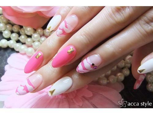 カモフラージュ×ピンク×ホワイト☆ 【acca style】 http://nail-beautynavi.woman.excite.co.jp/design/detail/340018?pint ≪ #nail #nails #nailart #softgel #gelnail #ジェルネイル≫