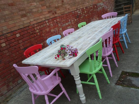 Cath Kidston | Flickr  Painted chairs