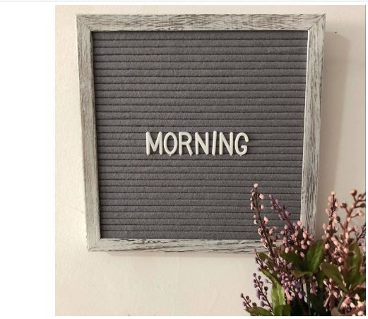 Felt Letter Board Set With 10x10 Inch Shabby Chic Farmhouse Rustic Wood Frame I M In Love With This Simple Farmhouse Felt Letter Boa Shabby Chic Farmhouse Felt Letter Board Porch Wall