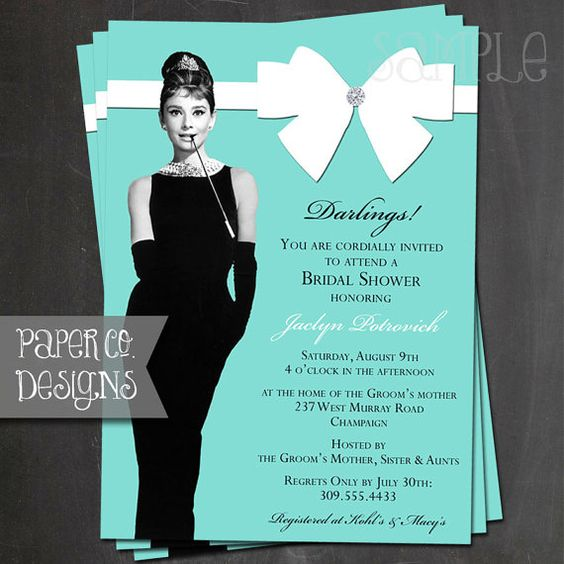 Printable Breakfast at Tiffany's Bridal Shower by PaperCoDesigns, $15.00