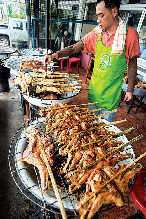 Gai Yahng (Thai Grilled Chicken with Sweet Chile Sauce) #Streetfood