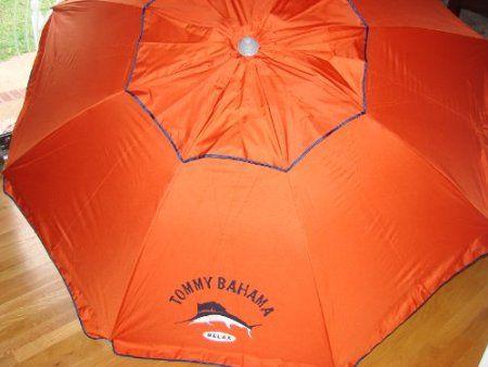 Amazon.com: Tommy Bahama 7 Ft Beach Umbrella with Sand Anchor and Tilt SPF 100 - Dark Orange: Patio, Lawn & Garden