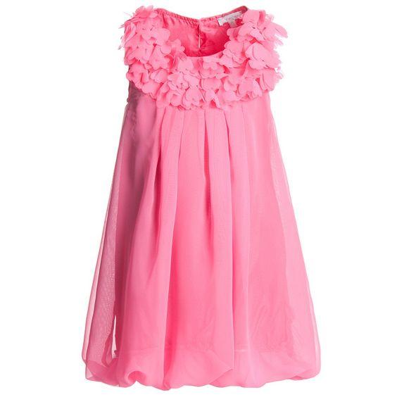 Pink Chiffon Bubble Dress - Dresses - Girl   Childrensalon