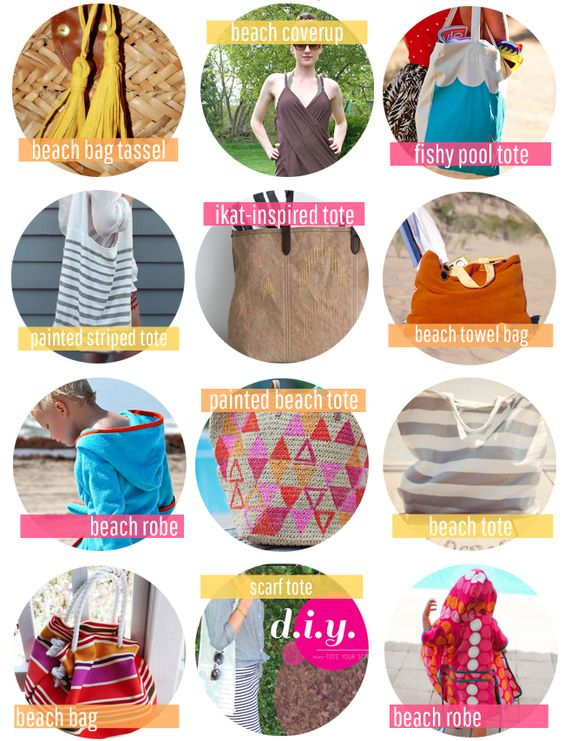 25 DIY Beach Towels + Totes