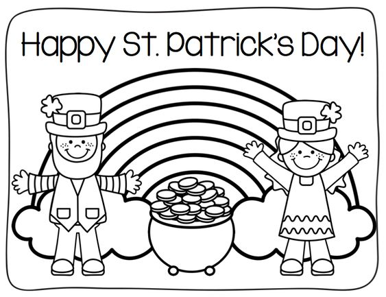 o byrnes st patricks day coloring pages - photo #50
