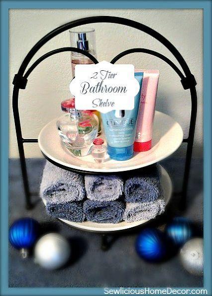 2 tier bathroom organizer, bathroom ideas, home decor, organizing