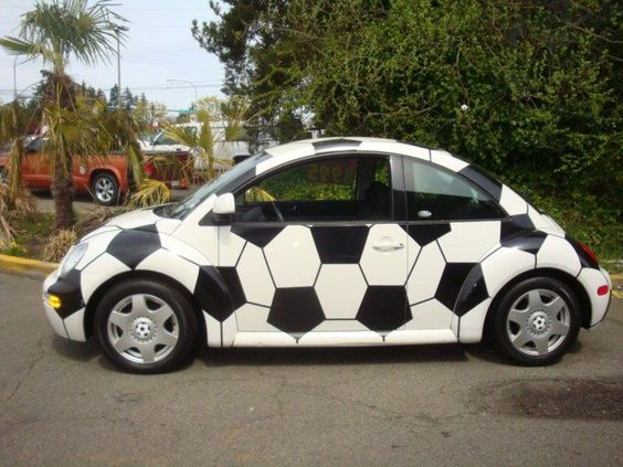 VW as a socker ball