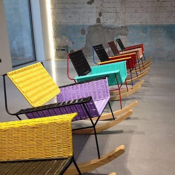 Furniture by Marni: 100 chairs made by colombian ex prisoners using salvaged…