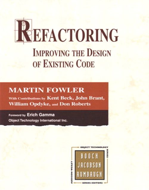 This is a really good book on software development. Refactoring - Improving the Design of Existing Code by Martin Fowler.