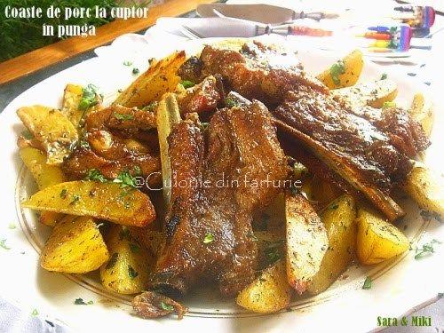 » Coaste de porc la cuptor in pungaCulorile din Farfurie