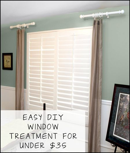 Window treatments easy diy and window on pinterest Simple window treatments
