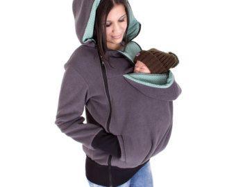 Abrigo de porteo y embarazo chaqueta 3 en 1 para madre y for Abrigo embarazo y porteo