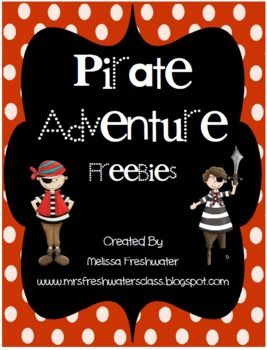 This pirate theme freebie is just for you!! There is a math activity (one more-one less) and a literacy activity (cvc word creation). Hope you ...