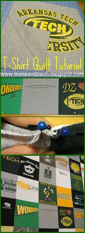 T-Shirt quilt tutorial-