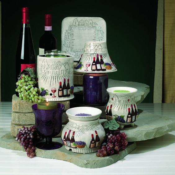 Napa Vine Yard Candle Accessories Wine Grapes Home Decor Www