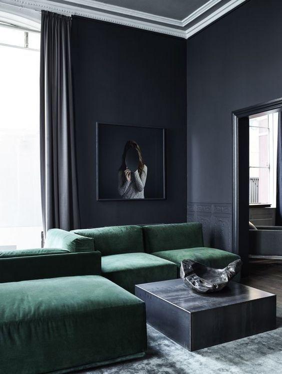 Most Popular Living Room Color Schemes Darklivingroom