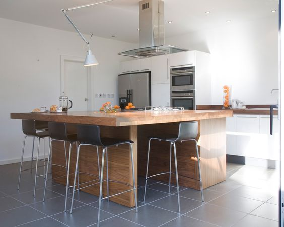Kitchen island from a home refurbishment in West London http://www.architect-yourhome.com/