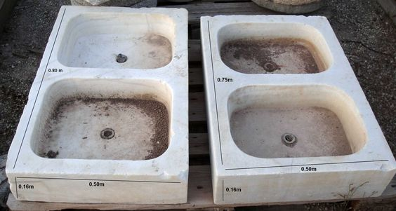 Fregaderos antiguos de marmol productos pinterest - Fregadero de marmol ...