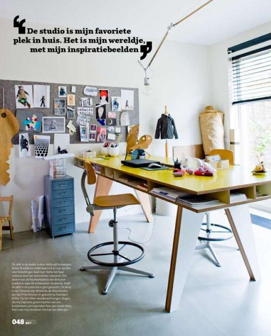 the INSEKT desk by designers Buisjes En Beugels in Rotterdam, via Decor8