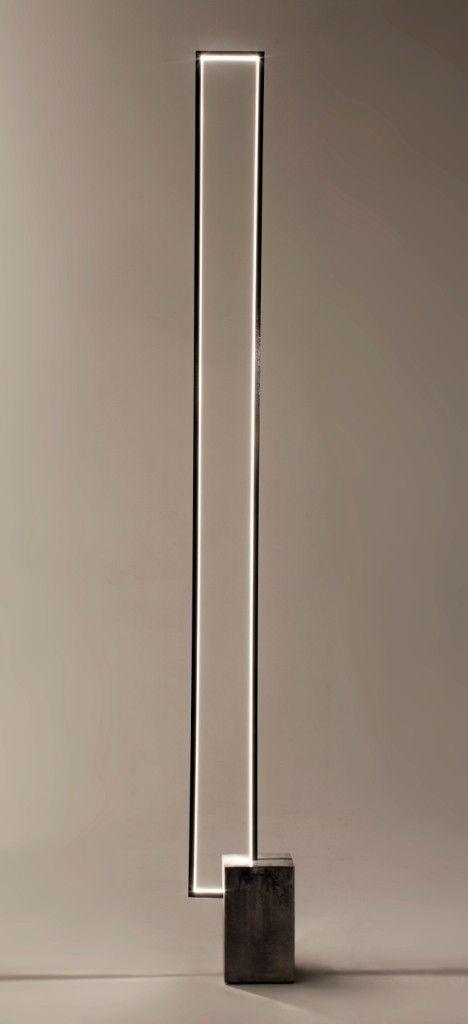 Luminaire Led avec socle en pierre patiné brut - CINIER collection ...