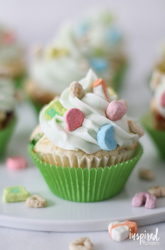 Lucky charm, Cupcake and Charms on Pinterest