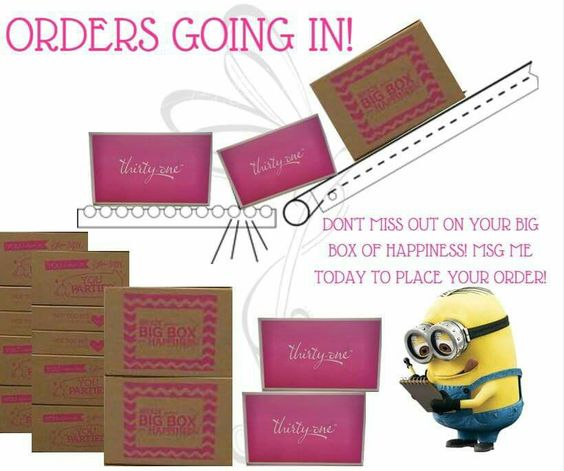 Thirty One order going in