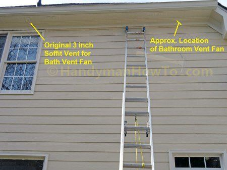 Install A Soffit Vent For A Bathroom Vent Fan Bathroom Vent Bathroom Vent Fan Bathroom Ventilation