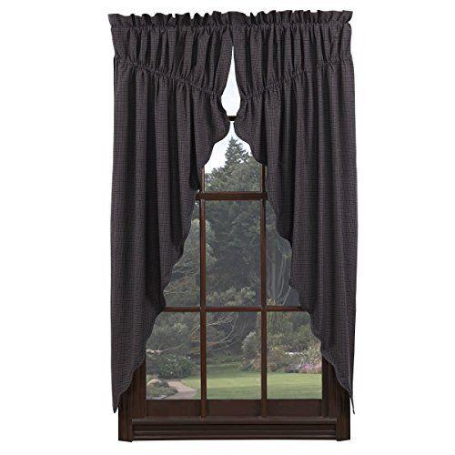 Vhc Brands Arlington Prairie Curtain Microplaid Fabric 63x36x18