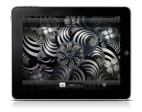 Creatorica wallpapers for the new iPad by Rodolfo Biglié, via Behance