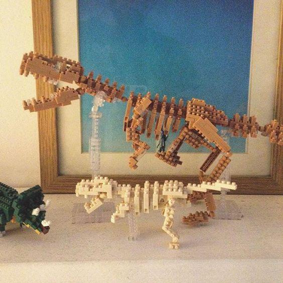 Bébé T-rex a rejoint maman T-rex dans la collection #nanoblock #dinosaur