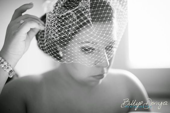 Madeleine's Daughter Blog, Real bride, real wedding, birdcage veil, ivory, beading, ruching, veil