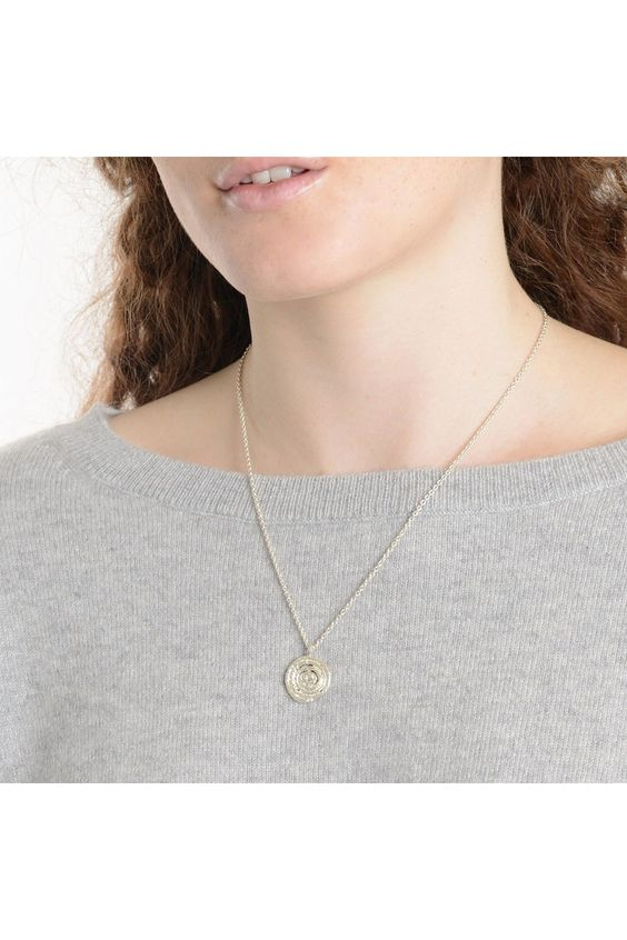 String Coil Necklace Silver