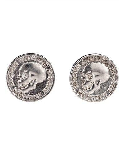 skull coin cuff links,