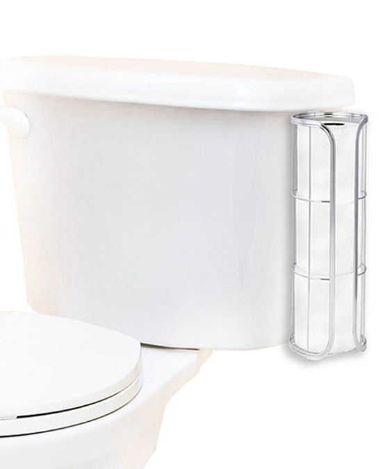 Look at this home basics Chrome Over-the-Tank Toilet Paper Holder on #zulily today!