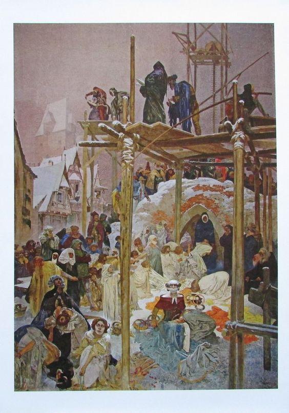 Alfons Mucha JAN MILIC VON KROMERIZ Reproduktion Kunstdruck tschechischer Maler