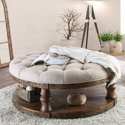 Birch Lane Anner Floor Shelf Coffee Table With Storage Coffee Table Farmhouse Coffee Table Round Ottoman Coffee Table