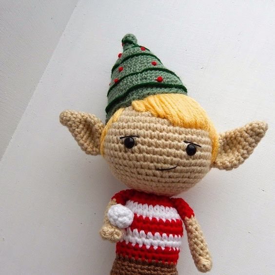 Amidorable makes a cute crochet elf put it on your shelf or hang it