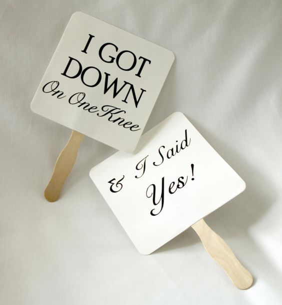 custom made engagement signs