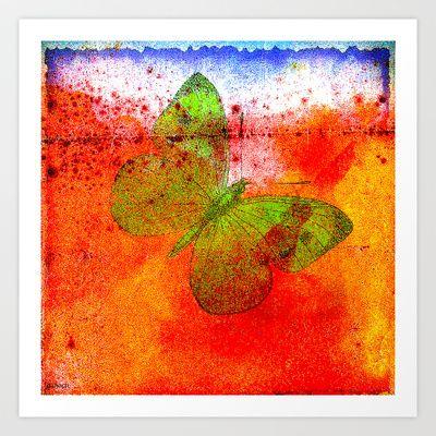 Papillon Art Print by ganech - $15.60