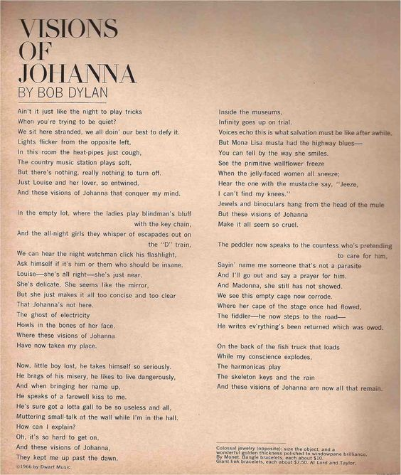 Visions of Johanna\